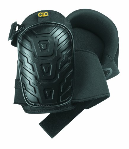 CLC Custom Leathercraft 345 Professional Kneepads, Supportive Gel Cushion, Breathable Neoprene Straps, Over Sized Caps for More Coverage, Ideal for Gardening, Flooring, Cleaning and Construction , Black
