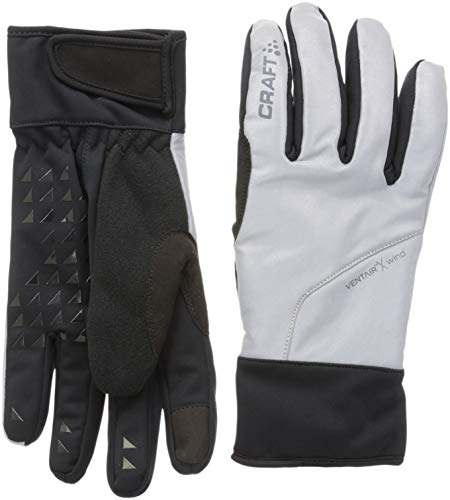 Craft sibirische Glow Langlaufhandschuhe Unisex Erwachsene, Silber/Schwarz, FR: S (Größe Hersteller: 08 S)