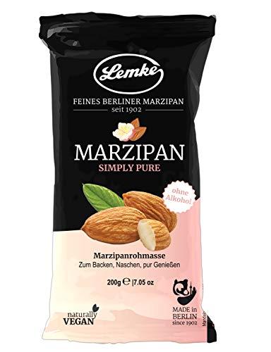 Lemke Marzipan / Backmarzipan - Simply Pure - Marzipanrohmasse ohne Alkohol (1x200g)