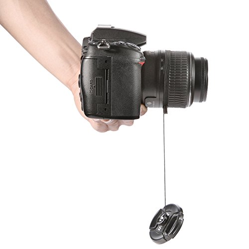 Neewer Lens Cap Keeper Holder for Canon Nikon Sony Pentax Fuji and all other SLR DSLR Cameras and Video Cameras (5 Pieces)