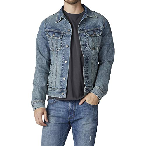 Lee Men's Denim Jacket, Old School, Large