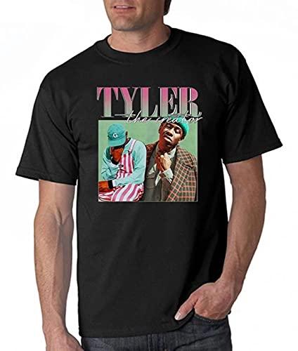 Tyler The Creator 90S Christmas T-Shirt Black Men Fashion t-Shirt Men Cotton Brand Teeshirt-Black,XXXL