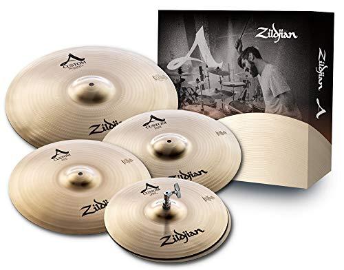 "Zildjian A Custom Series Cymbal Box Set - 14\"" Hi-Hats, 16\""/18\"" Crash, 20\"" Medium Ride"