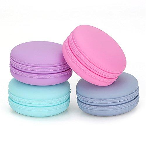 Puve Vie Pack de 4 Silicone Crème Bouteille Pot Portable Conteneur pour Pilule crème Shampooing, Revitalisant, Lotion, Crème solaire, Articles de Toilette - 20ml