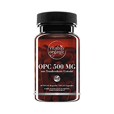 OPC 500 mg Highly dosed - from grape seed extract - 60 vegan capsules from Vitabay ® Organic