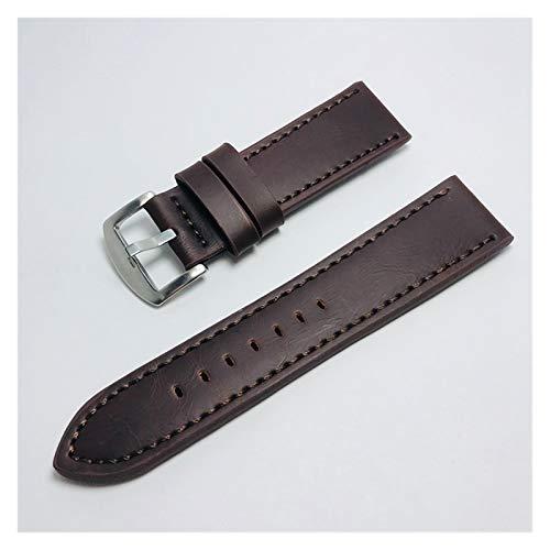 Liberación rápida 18 mm 20 mm 22 mm 24 mm marrón claro vintage banda de la vendimia correa de la correa de cuero de la PU de la banda de reloj de acero inoxidable de la banda de acero inoxidable Acces