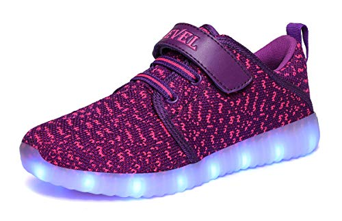 SLEVEL Toddler Kids LED Light Up Shoes Dance Dazzle Sneaker for Boys Girls