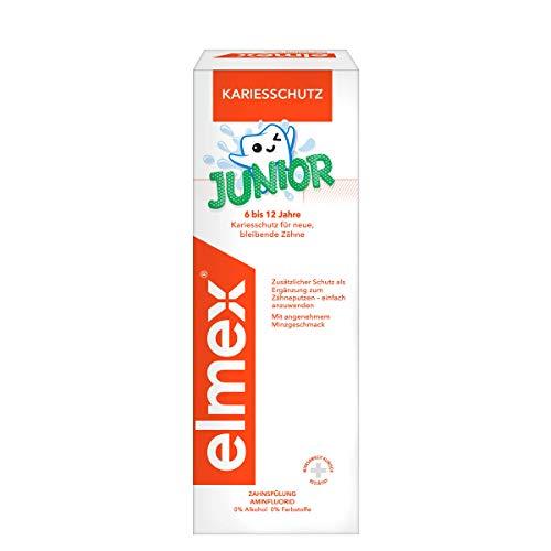 elmex Junior Zahnspülung - Mundspülung für Kinder von 6-12 Jahren, schützt wirksam vor Karies, 1 x 400 ml