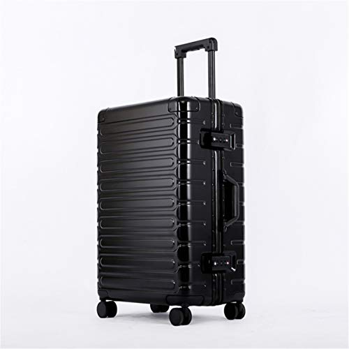 fosa1 Hand Luggage Trolley case ABS + PC Material Simple Trolley Case,Super Storage Luggage Bag,Wheels Travel Rolling Boarding,20' 24' 26' (Color : Black, Size : 20inch)
