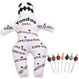 GRACEART Voodoo Doll Revenge Spell with 7 Skull Pins (Style-A)