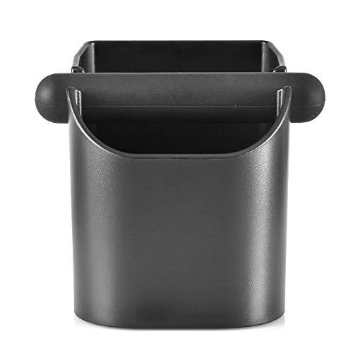 CAFEMASY Abklopfbehälter für Siebträger Langlebig Rutschfrei Espresso Abklopfbehälter für Kaffeesatz mit Abnehmbarer Klopfstange