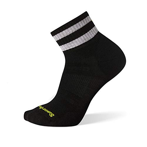 Smartwool Men's Athletic Stripe Mini Light Elite Merino Wool Socks, Black, Extra Large