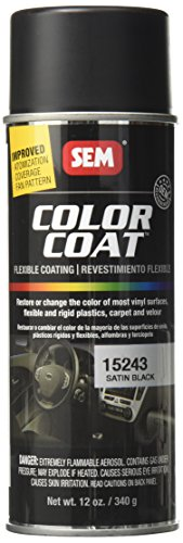 SEM Paints SEM15243 Satin Black Color Coat Aerosol...