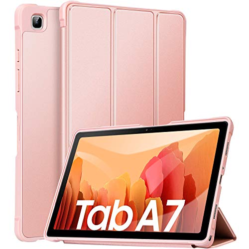 ZtotopCase Funda para Samsung Galaxy Tab A7 de 10,4 Pulgadas 2020 (SM-T500/T505/T507), Ultra Fina y Ligera, con función de Encendido y Apagado automático, Funda para Samsung Galaxy Table A7, Oro Rosa
