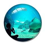 Imán de nevera 3D para acuario de Portugal, de Lisboa, de cristal de recuerdo