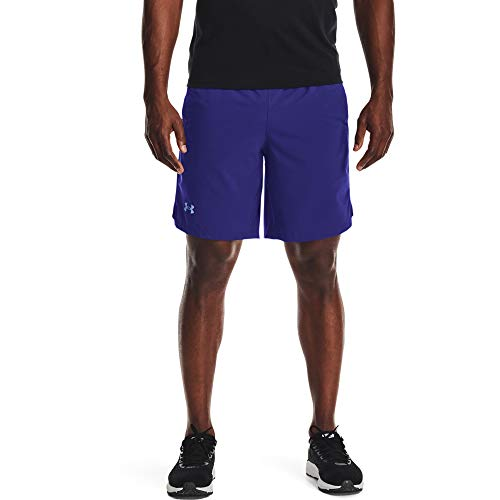 Under Armour Men's Launch Stretch Woven 9-Inch Shorts , Regal (415)/Reflective , X-Large
