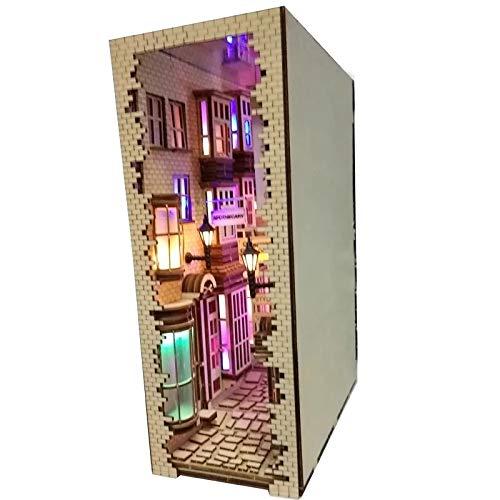 41RHD8zw8+L - Ces Ruelles de Tokyo Cachées dans des Serre-Livres en Bois - Sculptures, Handmade, Diorama, Artisanat, Art, Amazon