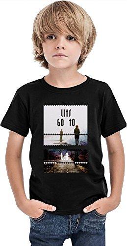 Styleart Lets Go to LA Camiseta para niños, Negro, 2-3 Años