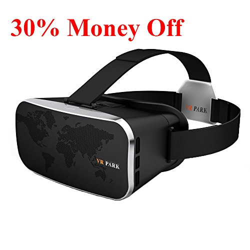 VR Headset, ZNYSMART VR Park III 3D Virtual Reality Goggles Gear Glasses Box For iPhone 7 6 6S Plus 5 5S SE Samsung S7 Edge Google Sony LG Huawei Playstation PS5 PS4 PS3