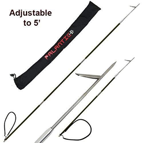 Carbon Fiber 7' Travel Spearfishing 3-Piece Pole Spear Single Flopper Tip
