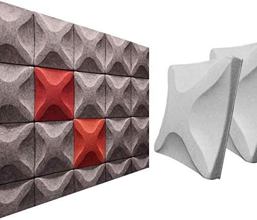 Pannelli acustici Stereo 3D Pannelli fonoassorbenti in Fibra Poliestere Teatro Teatro KTV Hotel Decorazione murale Piastrelle soffitto, Colore Persona