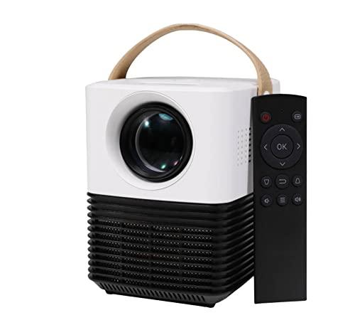 Mini Proyector Portátil(2021 Ver. Nativo 1080P Full HD, Corrección Trapezoidal de ± 50 °, Pantalla de 120 ', Cine en Casa Ideal, HDMI / USB / AV / AUX Compatible con Smartphone / PC/ TV Stick