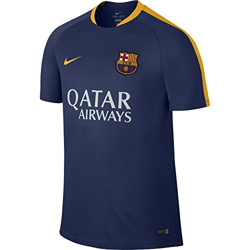 NIKE Camisetas de equipación FCB Flash SS Trng Top Blue/Blue/Gold M