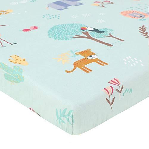 Finelyty Kindergarten Baby-Bettwäsche, Neugeborenes Cartoon Cotton Bed Auskleidungen, Säugling Nestchen Krippe Rock, leichte, weiche Baumwolle Bettwäsche-130 70 22 cm