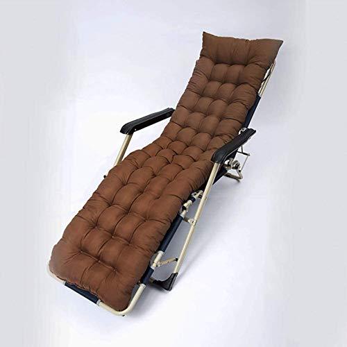 HZWLF Cojín reclinable Tumbona Reemplazo de Tela lijada Jardín clásico Patio Patio Jardín Cojín para Tumbona 175 * 48 * 8 cm