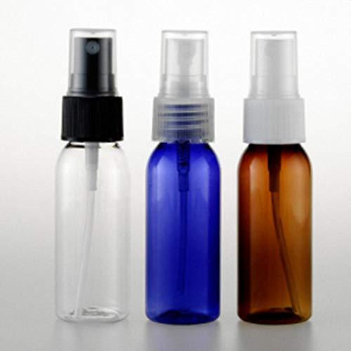 QWK 50 ml / 30 ml Flasche Flüssigkeitspresse Pumpspray Kunststoffflasche Flüssigkeitsbehälter Zerstäuber, transparent, 50 ml