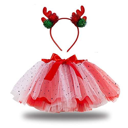 Loalirando Disfraz infantil de sirena para Halloween, disfraz de sirena, tut, vestido con diadema, cumpleaos, fiesta, princesa, color rojo, 2-3 aos