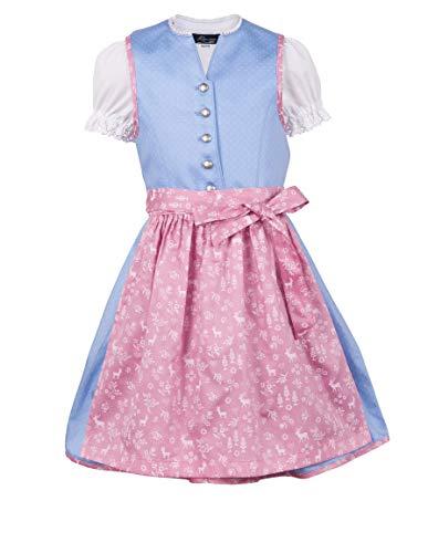 Ramona Lippert® - Kinder Dirndl für Mädchen - Kinderdirndl Alexa in Hellblau - 3-teiliges Trachtenkleid - Trachtenmode - Tracht mit...
