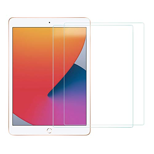 EiZiShield Eizistrong Series Tempered Glass Screen Protector for Apple iPad 10.2 Inch (8th generation 2020 model), Case Friendly Narrow, 2 Pack