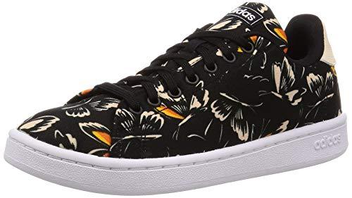 adidas EF0133 Damen Advantage Sneaker aus bedrucktem Textilmaterial Gummisohle, Groesse 40, schwarz/bunt