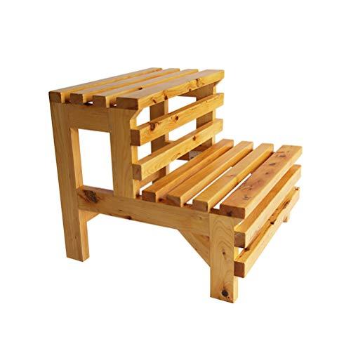 AMBH badkamer werkkamer keuken balkon staande ladder 100% houten ladder anti-slip trapmat 4.15