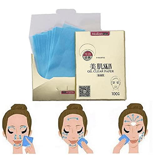 100Sheets / pack Huile Natural Tissus Absorbant Huile Portable Papier Papier Premium Face Premium Baguettes Feuilles de soins de la peau Outil de santé
