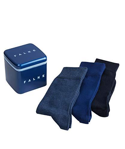 FALKE Herren Gift Box 3 Pack 3er Set Gift Box - 80% Baumwolle, 3 Paar, Blau (Blue/Denim Blue/Navy 20), Größe: 39-42