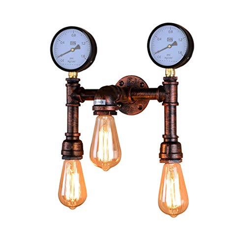 Wandlamp voor binnen, retro wandlamp van Amerikaanse landelijke stijl, creatieve industriële wind, bar café, balcone Corridoio slaapkamer, decoratieve wandlamp met dubbele kop
