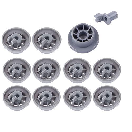 Ruedas para lavavajillas 165314 SUNSHINETEK 11 Piezas de ruedas inferiores para lavaplatos para el reemplazo de lavavajillas Bosch Neff Siemens