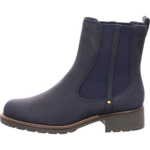 Clarks Women's Orinoco Club Short Shaft Boots, Blue Navy Nubuck, 6 UK