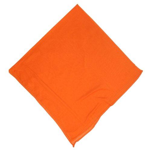 Halstuch 50x50cm Baumwolle 1A Qualität Einfarbig Bedruckbar Bestickbar Azofrei Uni Tuch Kopftuch Schultertuch Accessoire (1x, orange)