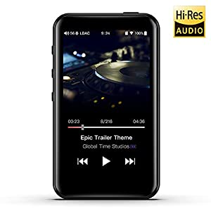 High Resolution Lossless MP3 Music Player with HiFi Bluetooth aptX HD/LDAC, USB Audio/DAC,DSD/Tidal/Spotify Support and WiFi/Air Play Full Touch Screen
