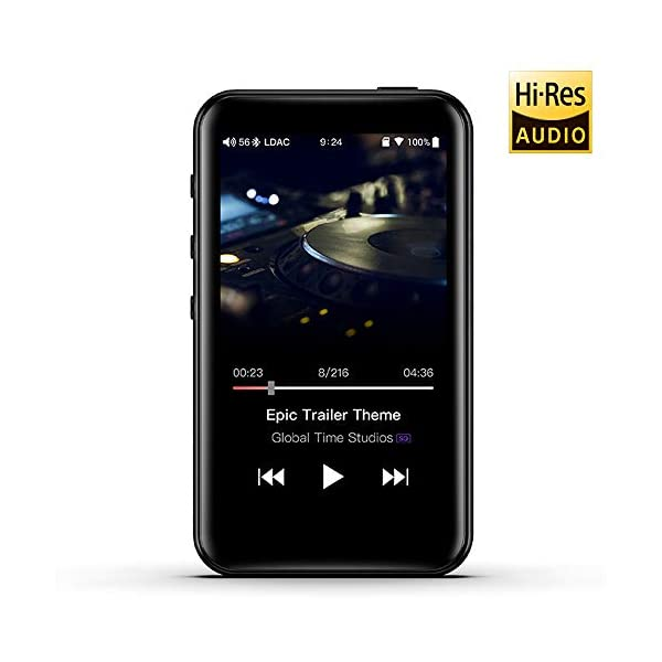 High Resolution Lossless MP3 Music Player with HiFi Bluetooth aptX HD/LDAC, USB Audio/DAC,DSD/Tidal/Spotify Support and WiFi/Air Play Full Touch Screen 3