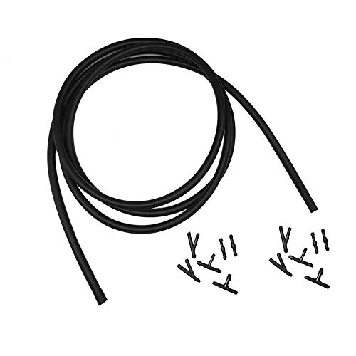 Universal Car Windshield Washer Hose Repair Kit 300cm/(10ft) Windshield Wiper Fluid Tube with 12 Pieces Hose Black Connectors Wiper Fluid Hose Kit Connect Car Water Pump and Wiper Nozzlesblack