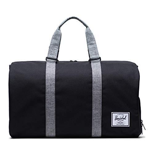 Herschel Novel Duffel Bag, Black/Raven Crosshatch, Classic 42.5L