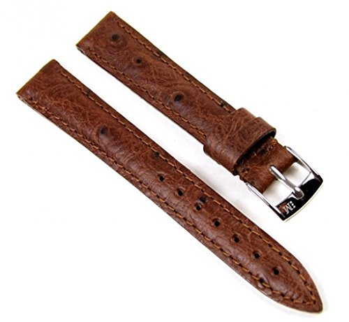 Morellato Chagall Ersatzband Uhrarmband Kalbsleder/Straußoptik Dunkelbraun 14mm