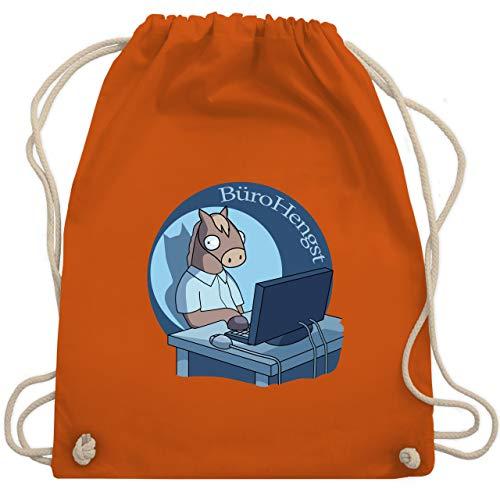 Shirtracer Statement - BüroHengst - Unisize - Orange - Pferd - WM110 - Turnbeutel und Stoffbeutel aus Baumwolle