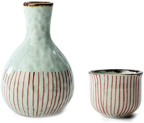 Wall Spotlights~mwsoz Sake-Set Botellas y Juegos de sakeJuego de Sake japonés Copas de cerámica Retro Copas de Vino artesanales