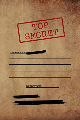 Top Secret: Gear vintage Detective Journal For Kids, Fun & Unique Spy Games Notebook Journal Gift For Boys Or Girls, Detective kids Notebook, Secret Agent Journal 6' x 9' 120 pages
