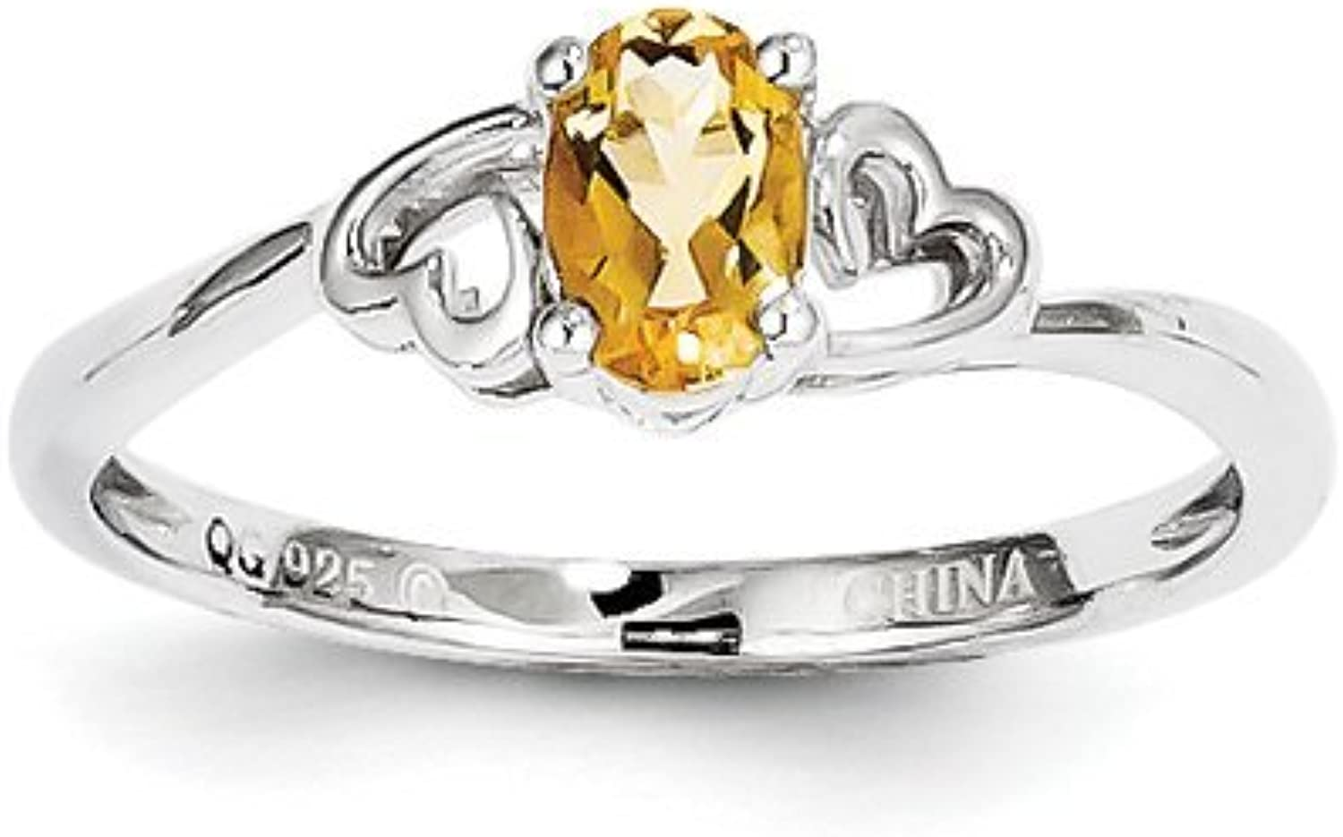 gold and Watches Sterling Silver Citrine Ring